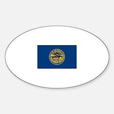 Nebraska flag Oval Decal