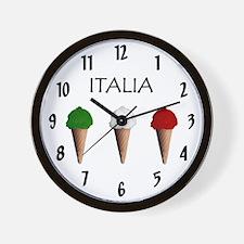 Gelati Italiani Wall Clock
