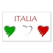 Italy Love Italian style Rectangle Decal