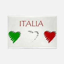 Italy Love Italian style Rectangle Magnet (100 pac