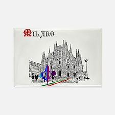 Milano Milan Italy Rectangle Magnet