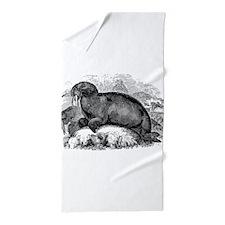 Unique Walrus Beach Towel