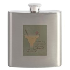 I Take My Cider Spiked With Good Cheer! Flask