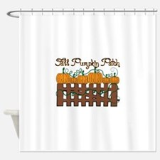 Fall Pumpkin Patch Shower Curtain