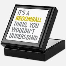 Its A Broomball Thing Keepsake Box
