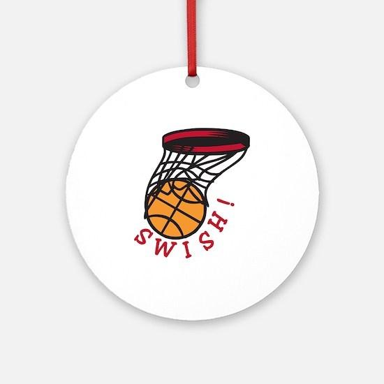 Basketball Swish Ornament (Round)
