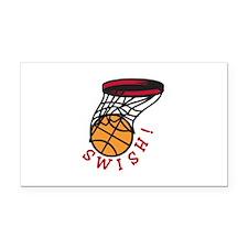 Basketball Swish Rectangle Car Magnet