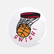 "Basketball Swish 3.5"" Button (100 pack)"