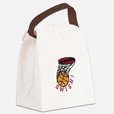 Basketball Swish Canvas Lunch Bag