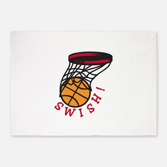 Basketball  Swish 5'x7'Area Rug
