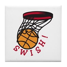 Basketball  Swish Tile Coaster