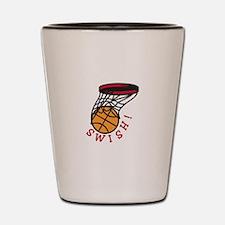 Basketball Swish Shot Glass