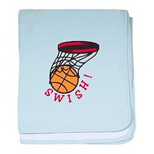 Basketball Swish baby blanket