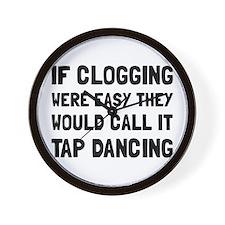 Clogging Tap Dancing Wall Clock