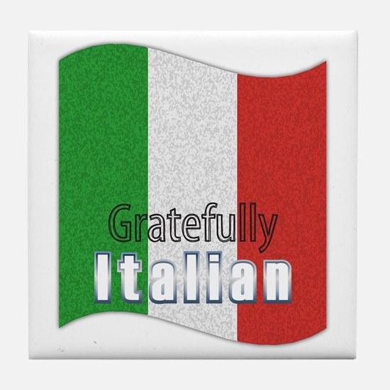 Gratefully Italian Tile Coaster