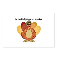 Be Thankful You Are Not A Turkey Postcards (Packag