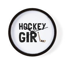 Hockey Girl Wall Clock