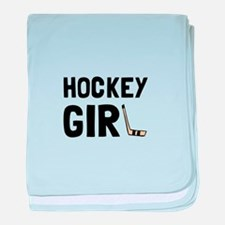 Hockey Girl baby blanket