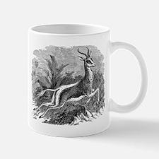 Vintage Antelope Illustration - 1800s Gazelle Mugs