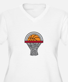 Basketball Hoop Plus Size T-Shirt