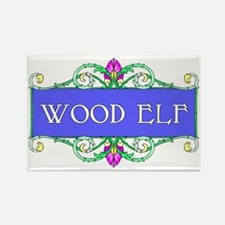 Wood Elf Rectangle Magnet