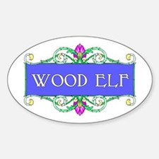 Wood Elf Oval Decal