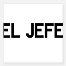 "El JEFE Square Car Magnet 3"" x 3"""