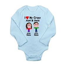 Personalize crazy aunt Baby Outfits