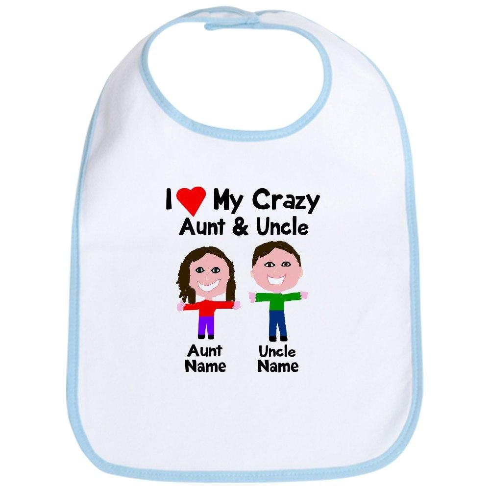 CafePress Personalize crazy aunt uncle Bib