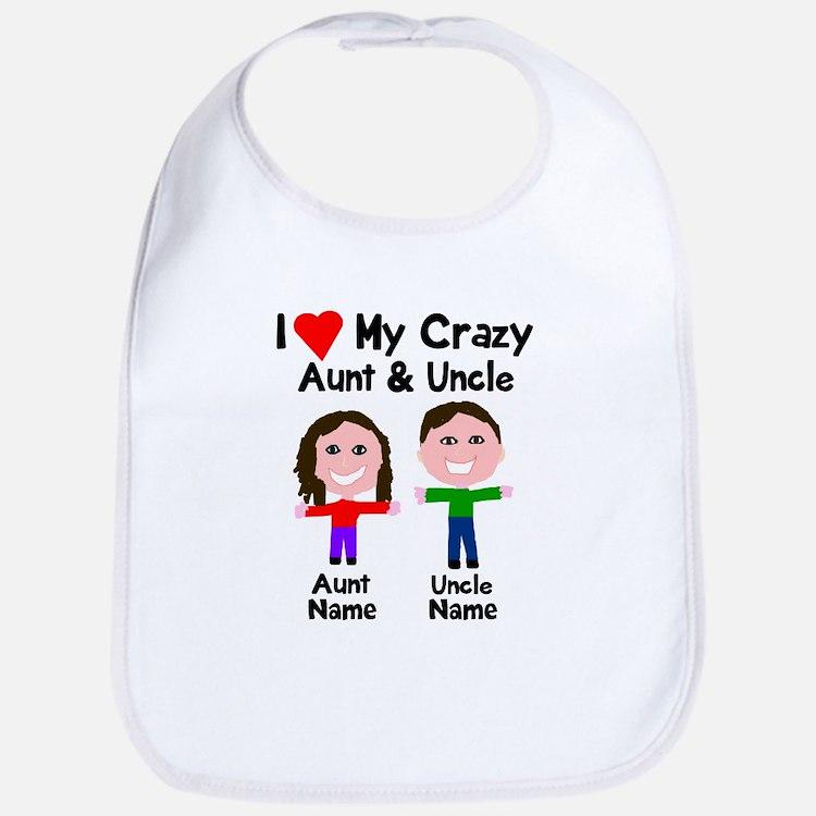 Personalize crazy aunt uncle Bib