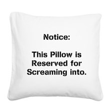 Cute The scream Square Canvas Pillow