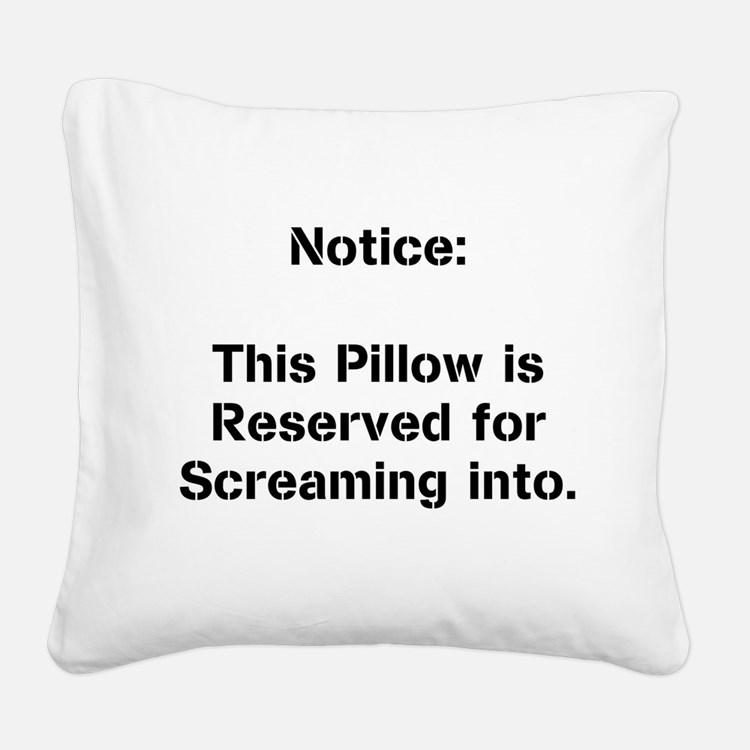 Cute Scream. Square Canvas Pillow