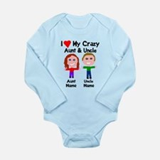 Personalize crazy aunt Long Sleeve Infant Bodysuit