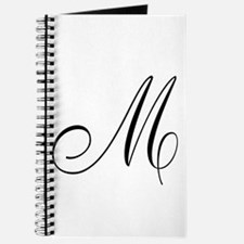M Initial Black Script Journal