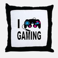I Love Gaming Throw Pillow