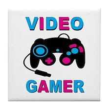 Video Gamer Tile Coaster
