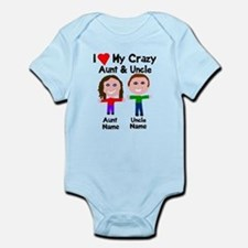 Personalize crazy aunt uncle Onesie