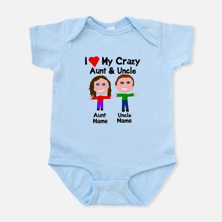 Personalize crazy aunt uncle Onesie