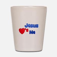 Jesus Loves Me II Shot Glass