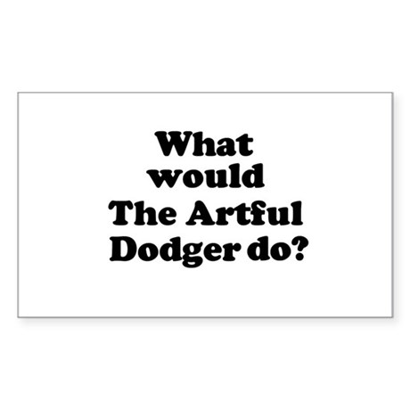 Artful Dodger Rectangle Sticker