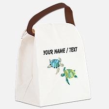 Custom Sea Turtles Canvas Lunch Bag