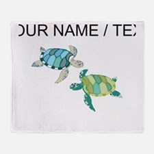 Custom Sea Turtles Throw Blanket