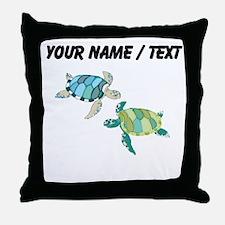 Custom Sea Turtles Throw Pillow