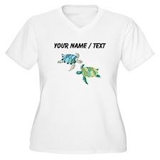 Custom Sea Turtles Plus Size T-Shirt