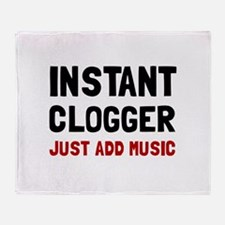 Instant Clogger Throw Blanket