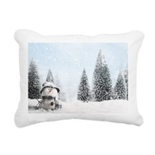 christmas snowman Rectangular Canvas Pillow
