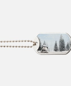 christmas snowman Dog Tags