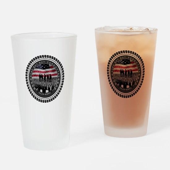 Fallen Heroes Drinking Glass