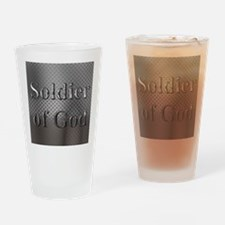 Soldier Of God Drinking Glass