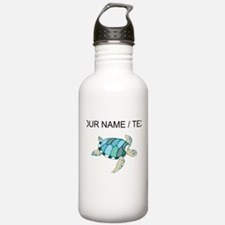 Custom Blue Sea Turtle Water Bottle